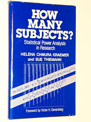 How Many Subjects? : Statistical Power Analysis: Kraemer, Helena Chmura;