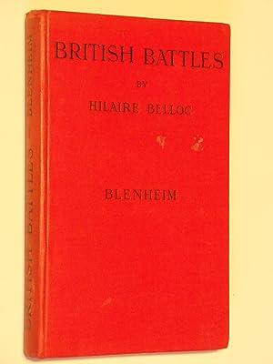 British Battles: Blenheim: Belloc, Hilaire
