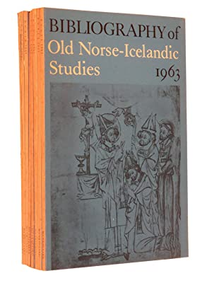 Bibliography of Old Norse-Icelandic Studies (BONIS) - Complete eight volume run from 1963-1970: ...
