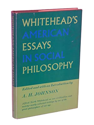 Whitehead's American Essays in Social Philosophy: Whitehead, Alfred North; Edited and with an ...