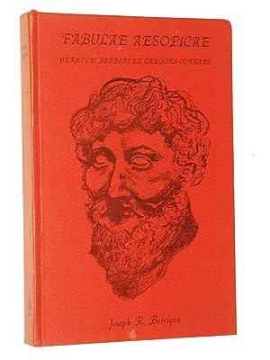 Fabulae Aesopicae: Hermolai Barbari Et Gregorii Corrarii: Berrigan, Joseph R. [Aesop]