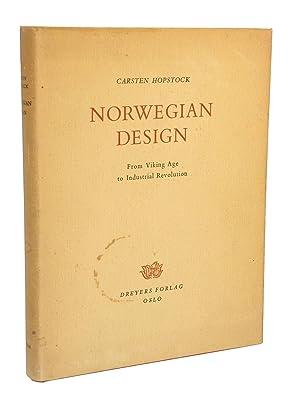 Norwegian Design: From Viking Age to Industrial Revolution: Hopstock, Carsten