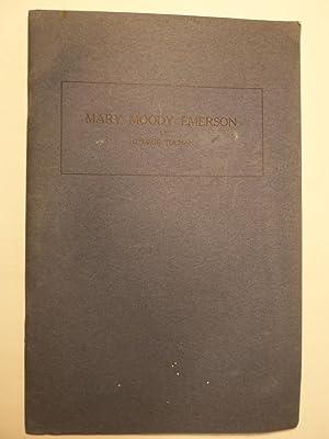 Mary Moody Emerson: Tolman, George; Preface by Edward W. Forbes