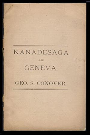 Early History of Geneva, (Formerly Called Kanadesaga)
