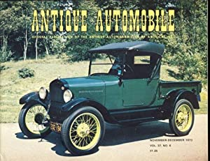 Antique Automobile (Official Publication of the Antique Automobile Club of America, Inc.) 1973 Fu...