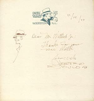 Autograph Letter Signed with Original Drawing of Dick Tracy
