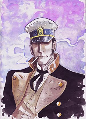 Corto Maltese Portrait - Original Watercolor by Giancarlo Caracuzzo