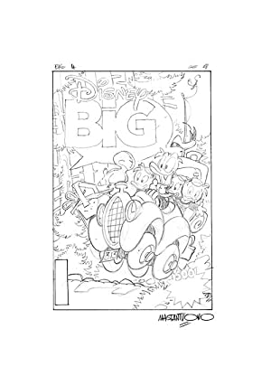 Disney Big #4 Preliminary Cover Art by Corrado Mastantuono