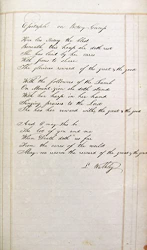 Handwritten 1817 Ledger from L. S. Walkley from Haddam, CT