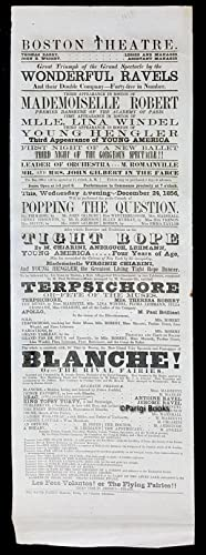 Broadside for the Boston Theatre, December 1856. Great Triumph of the Grand Spectacle by the Wond...