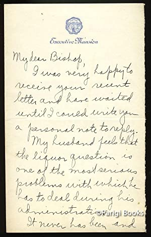 Autograph Letter Signed Regarding Prohibition
