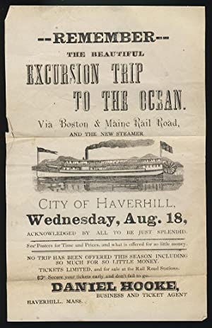 Remember the Beautiful Excursion Trip to the Ocean. Via Boston & Maine Rail Road, and the New Ste...