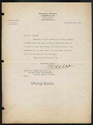 Typed Letter Signed Addressed to Robert S. Holmes, President of the Florida Forum and Assembly