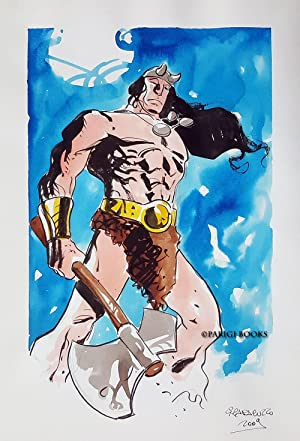 Conan Original Watercolor Art by Giancarlo Caracuzzo