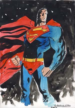 Superman Original Watercolor by Giancarlo Caracuzzo