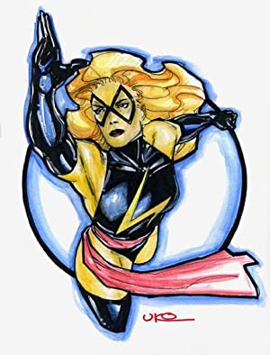 Ms. Marvel Pin-up Original Art