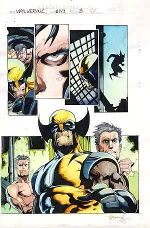 Wolverine #143 Page 3 Original Marvel Color Guide