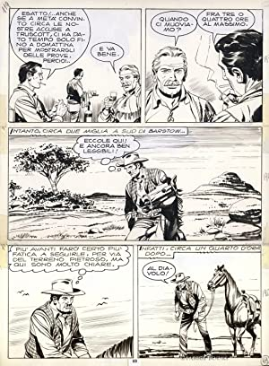 Original Comic Art for Tex #119 by Guglielmo Letteri
