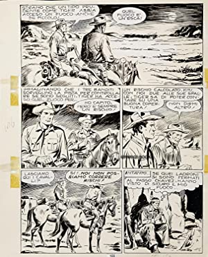 Tex #106 - La paga di Giuda, Page 103. Original Comic Art by Erio Nicolò