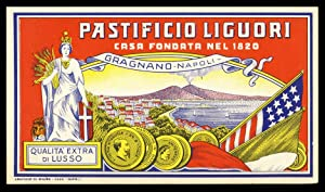 Vintage Pastificio Liguori Pasta Label