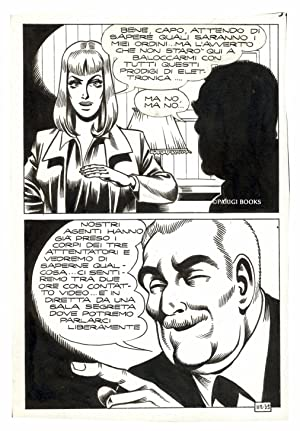 Satanik #112 - La spirale, Page 35. Original Comic Art by Magnus