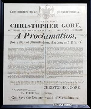 A Proclamation, for a Day of Humiliation, Fasting and Prayer Broadside by Governor Christopher Go...