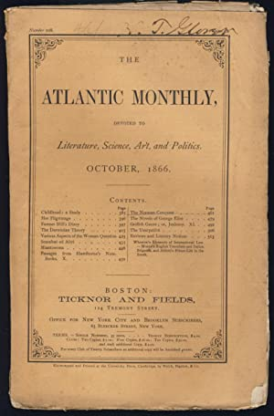 Passages From Hawthorne's Note-Books Part X in The Atlantic Monthly October 1866