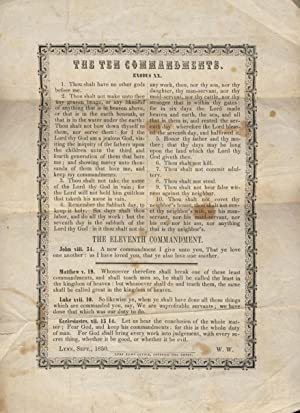 The Ten Commandments Printed Broadside