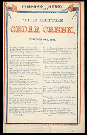 The Battle of Cedar Creek, October 19th, 1864. Liberty and Union Forever