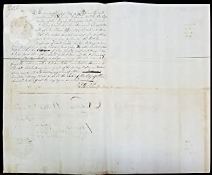 1749 Document Signed by Philadelphia Recorder William Allen Regarding Men's and Women's Saddles