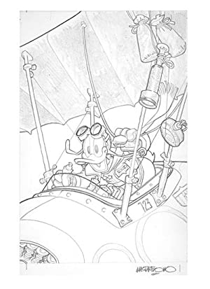 Disney Big #7 Original Cover Art by Corrado Mastantuono. (Donald Duck Original Cover Art)