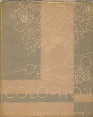 The Colophon Part Eight. With Signed Lithograph by Victoria Hutson