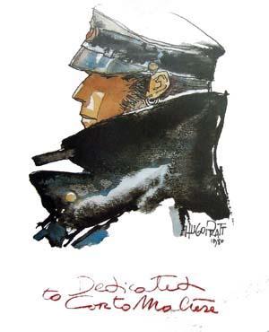 Dedicated to Corto Maltese Poster. Art by Hugo Pratt: Pratt, Hugo