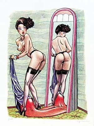 Little Ego at the Mirror Signed and Numbered Limited Edition Lithograph
