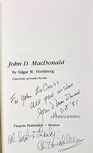 John D. MacDonald (Signed By John D. MacDonald and By Edgar Hirshberg)