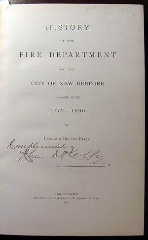 History of the Fire Department of the City of New Bedford, Massachusetts, 1772-1890
