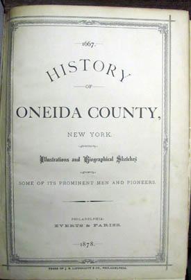 History of Oneida County, New York. With