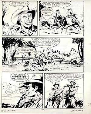 Tex #350 Original Comic Art by Raffaele Della Monica