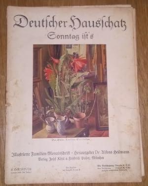 Deutscher Hausschatz. 4.Heft 1931/32. Sonntag ist's.: Heilmann, Alfons Dr.