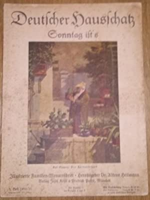 Deutscher Hausschatz 1.Heft 1930/31 Sonntag ist's.: Heilmann, Alfons Dr.