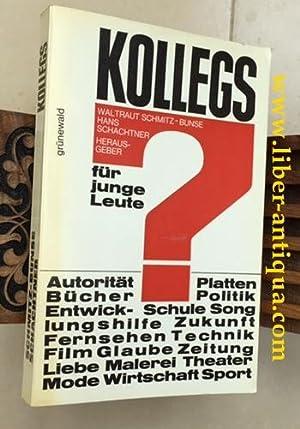 Kollegs für junge Leute: Autorität Bücher Entwicklunghilfe: Schmitz-Bunse (Hrsg.), Waltraud
