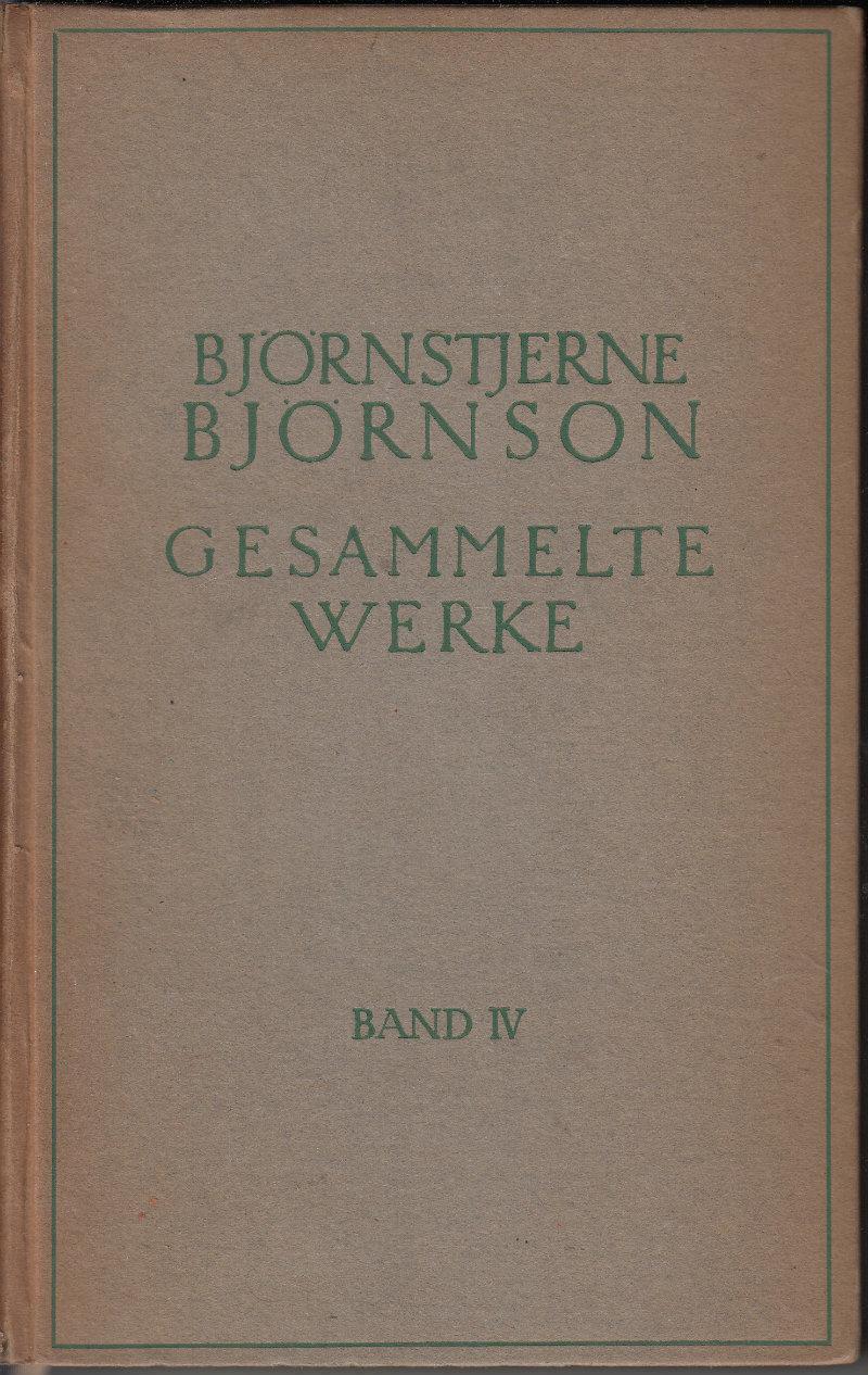 Gesammelte Werke: Bjornson, Bjornstjerne