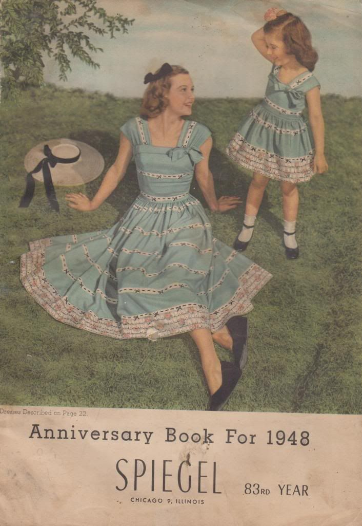 Anniversary Book For 1948 Spiegel 83rd Year Very Good Softcover 127pp. Full of ads for dresses, appliances, watches, typewriters, rifles, etc etc. Tear to heal of spine. Some illust in color. *