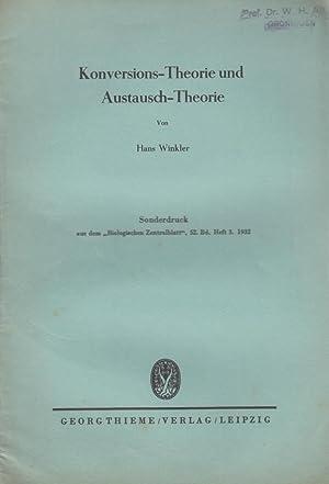 Konversions-Theorie und Austausch-Theorie: Winkler, Hans