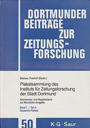 Teil A: Deutsche Plakate: Kommentar- Und Registerband