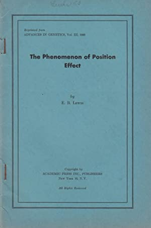 The Phenomenon of Position Effect: Lewis, E.B. Edward B. Lewis