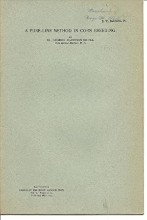 45 offprints of Plant geneticist George H. Shull 1874-1954: Shull, George Harrison G. H. Shull