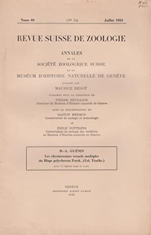 Les Chromosomes Sexuelss Multiples du Blaps Polychresta Forsk. (Col. Tenebr.): Guenin, H.-A.