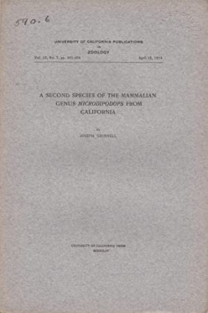 A Second Species of the Mammalian Genus Microdipodops from California: Grinnell, Joseph