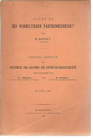 Giebt es Bei Wirbeltieren Parthenogenesis?: Bonnet, Robert